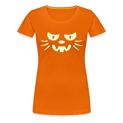 Frosby Night Cat Womens Glow T-shirt - Women's Premium T-Shirt