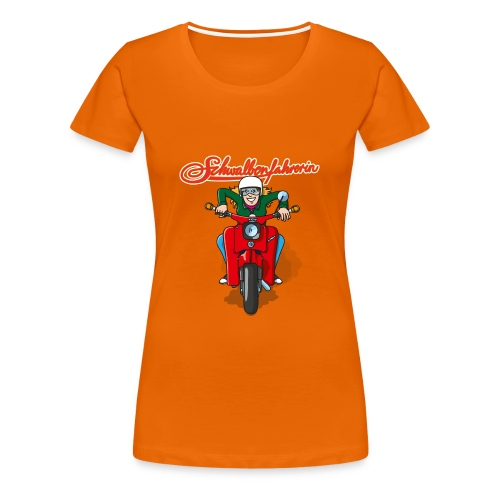 Schwalbenfahrerin Comic Basis-Shirt - Frauen Premium T-Shirt