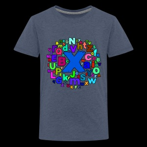 A B C Alphabet - Teenage Premium T-Shirt