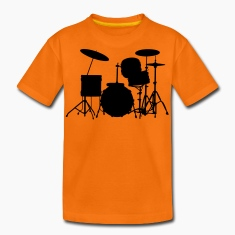 music drums drum set Børne T-shirts