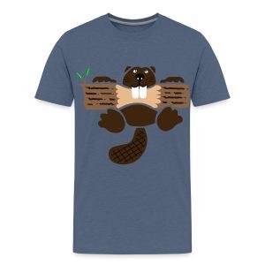 t-shirt biber bieber nager fleissig otter burg natur tier zähne - Teenager Premium T-Shirt