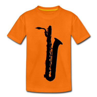 saxophone brass instrument music Kids' Shirts