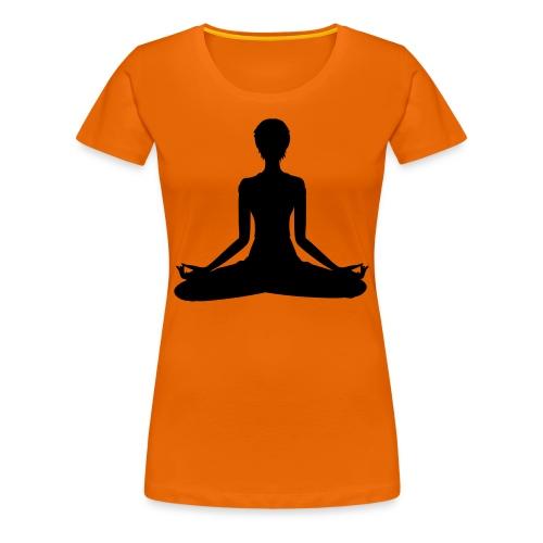 Camiseta Posición del Loto color naranja - Camiseta premium mujer