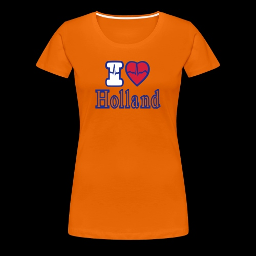 CUSTOM I LOVE HOLLAND TEE SHIRT - Women's Premium T-Shirt