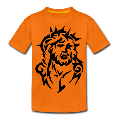 tribal jesus christ Kids' Shirts