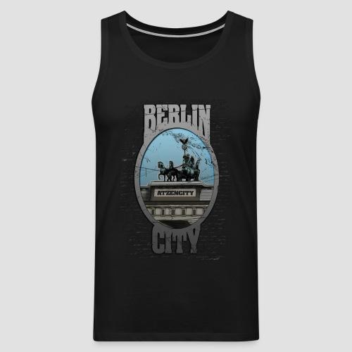 BERLIN CITY ATZENCITY Muskelshirt Männer - Männer Premium Tank Top