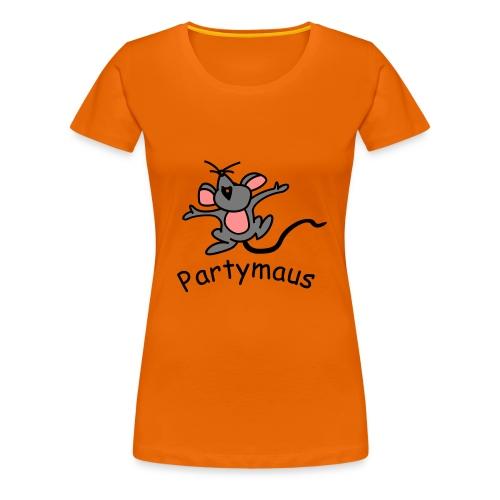 Partymaus - Frauen Premium T-Shirt