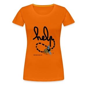 Help femme orange  - T-shirt Premium Femme