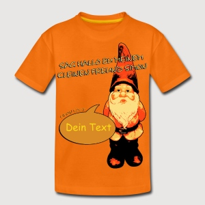 SIMON SAGT / Gartenzwerg + Dein Text | Kindershirt - Teenager Premium T-Shirt