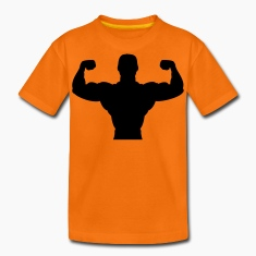 bodybuilder sport fitness muscle Kids' Shirts