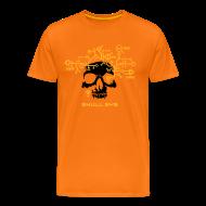 T-Shirts ~ Men's Premium T-Shirt ~ Skull.sys yellow/black