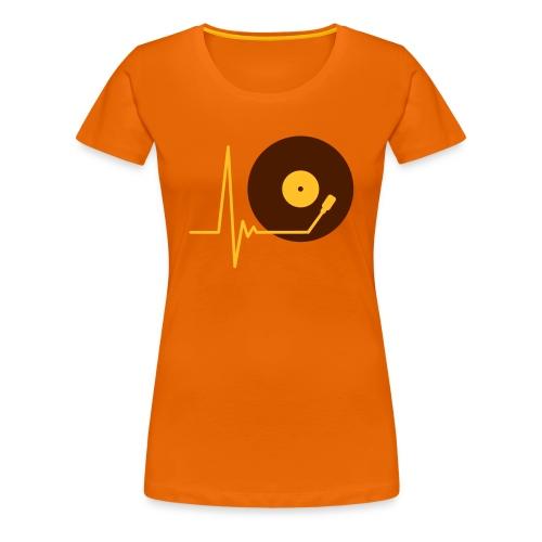 Musik Schallplatte - Frauen Premium T-Shirt