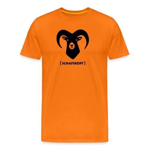 tier t-shirt schaf widder ziege horn hörner bock schafskopf hirsch geweih karten spiel kartenspiel - Männer Premium T-Shirt