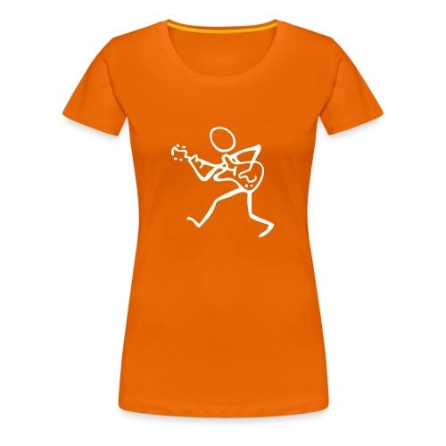 Women's Premium T-Shirt - Ladies Trevor Jones 'Guitar Fool' T-Shirt with Trevor Jones name on sleeve