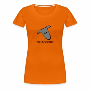 Comic-Deerhound - Frauen Premium T-Shirt