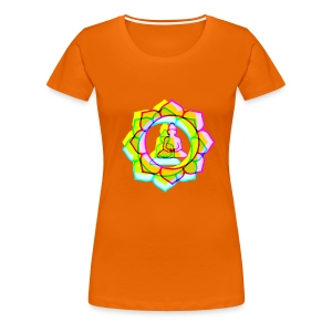 colorful BUDDHAS in Lotusblüte | Frauenshirt klassisch - Frauen Premium T-Shirt