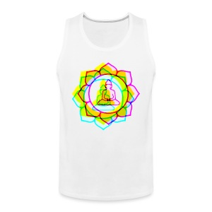 colorful BUDDHAS in Lotusblüte | Männershirt ärmellos - Männer Premium Tank Top