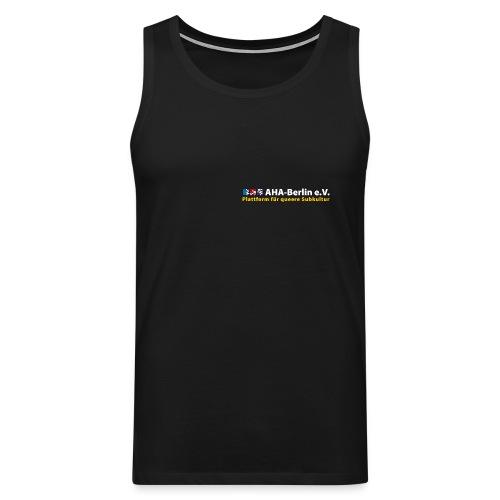AHA-Muskelshirt (schwarz) - Männer Premium Tank Top
