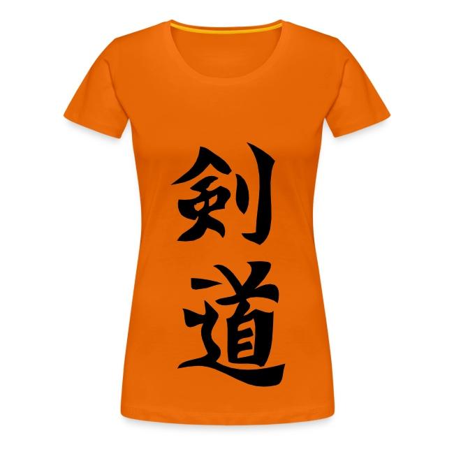 Frauenshirt Kendo Kalligraphie