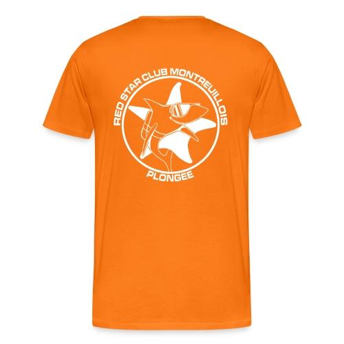 Tshirt Homme Orange - T-shirt Premium Homme