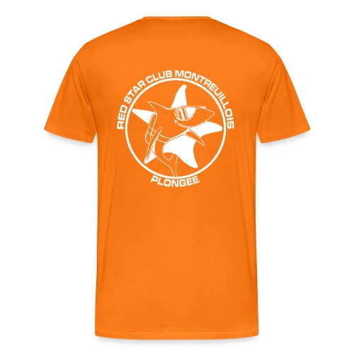 Tshirt Homme Orange - T-shirt Premium Homme