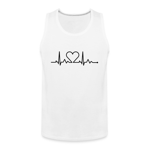 Heart Beat - Men's Premium Tank Top