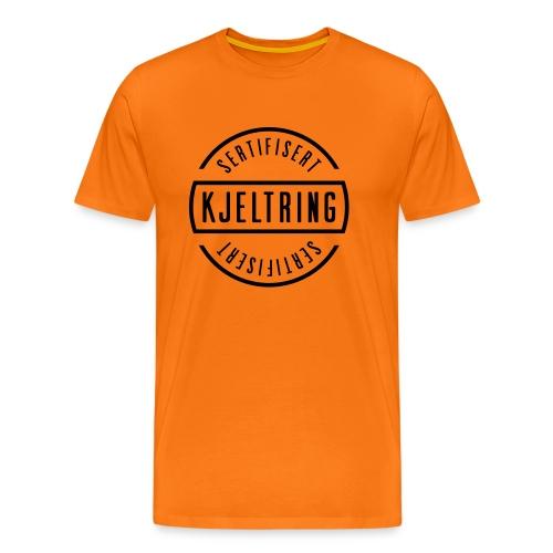 Sertifisert kjeltring oransje - Premium T-skjorte for menn