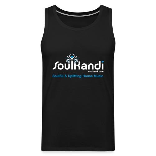Tank Top with White & Blue Soul Kandi Tree Logo - Men's Premium Tank Top