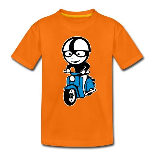 Kinder-Shirt mit Comic-Schwalbenfahrer - Teenager Premium T-Shirt