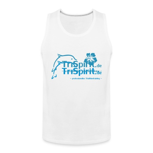 Arti Muskelshirt blaues Logo mit Slogan - Männer Premium Tank Top