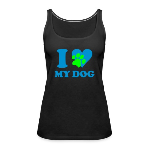 I love my Dog tang top Damen - Frauen Premium Tank Top