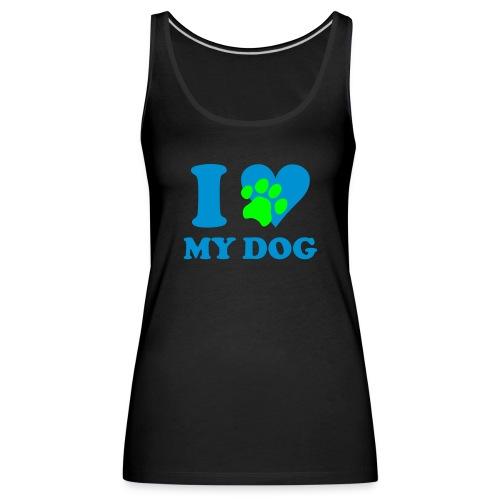 I love my Dog tang top Damen - Frauen Premium Tank Top