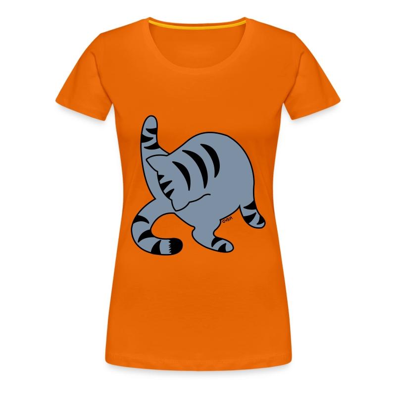 Grey Tabby - Women's Premium T-Shirt