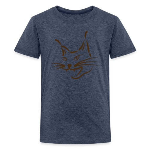 luchs BRAUN lynx cougar  katze wild Kinder T-Shirts - Teenager Premium T-Shirt