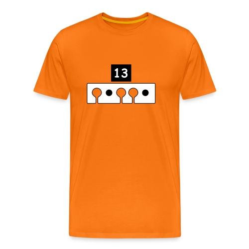 Tee shirt manche courte de biathlon avec cible numéro 13 - T-shirt Premium Homme