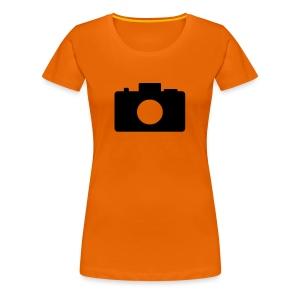 Frauen Girlieshirt Fotoapparat - Frauen Premium T-Shirt