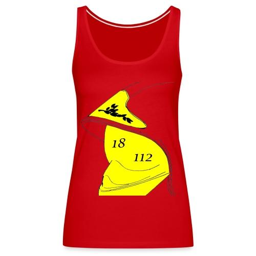 Débardeur Premium Femme - 112,18,France,Sapeurs,alarme,botte,casque,extincteur,feu,grade,incendie,lance,pompiers,professionnel,sauvetage,secourisme,sécurité,veste,volontaire