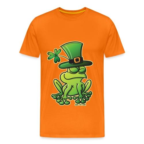 St. Patrick's Day Frog Men's T-Shirt in Orange - Men's Premium T-Shirt