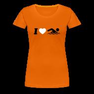 T-Shirts ~ Frauen Premium T-Shirt ~ Schwimmen