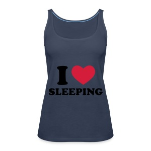 ik hou van slapen - Vrouwen Premium tank top