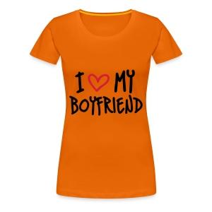 I Love My Boyfriend - Vrouwen Premium T-shirt