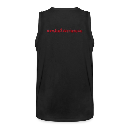 Liebe ist unsere stärkste Waffe: Herz - mit Rückendruck (rot) - Männer Premium Tank Top