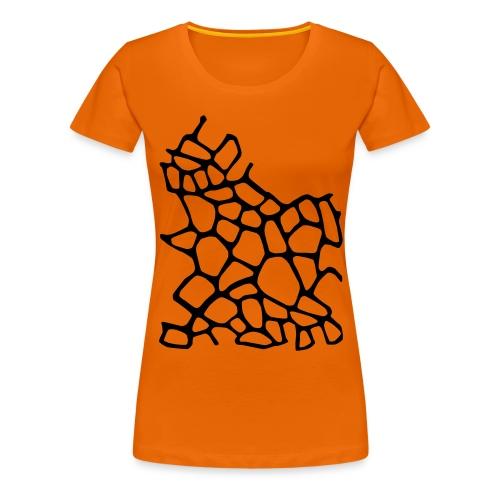 Giraffe Print Womens Tee - Women's Premium T-Shirt