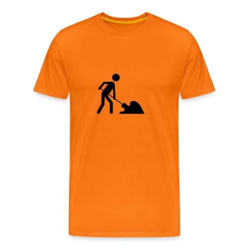 Stick man road worker - Premium-T-shirt herr