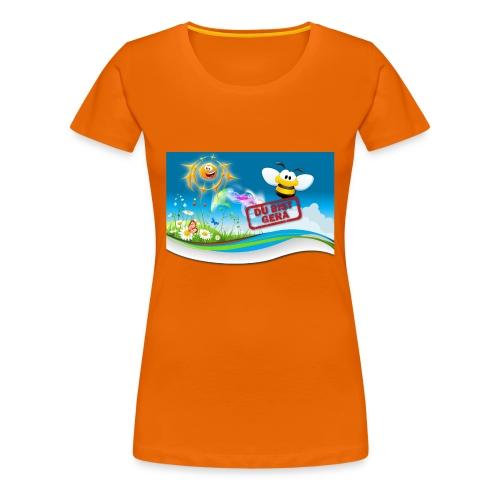 Du Bist Gera - Girlieshirt (orange) - Frauen Premium T-Shirt