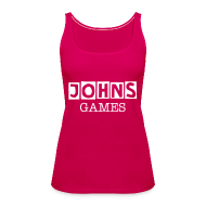 Tops ~ Women's Premium Tank Top ~ Johns Game Channel Tank Top!