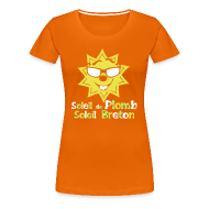 Tee shirts ~ T-shirt Premium Femme ~ Tee shirt soleil de plomb soleil breton