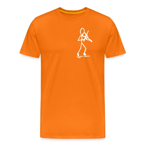 Fiddler Tshirt, Chest Print - Men's Premium T-Shirt