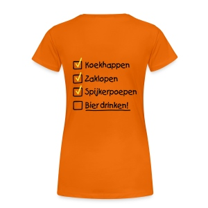 to do queensday - vrouw - Vrouwen Premium T-shirt
