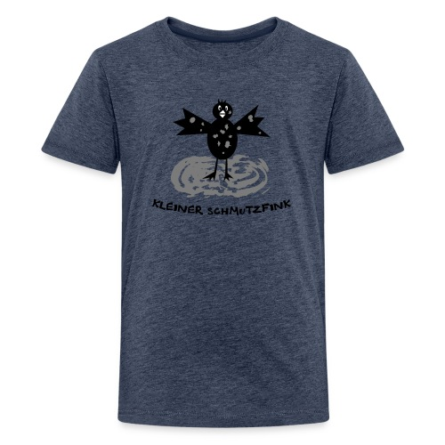 tier t-shirt kinder baby schmutzfink fink spatz dreckspatz schmutzig dreckig schmutz dreck - Teenager Premium T-Shirt